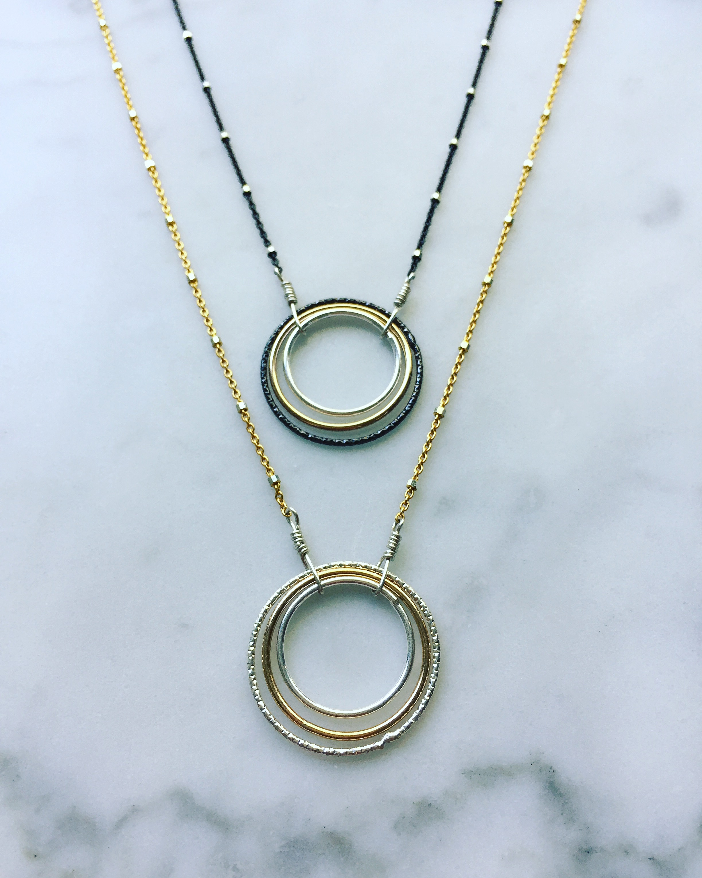 circle medium rosenfeld triple med products emily necklace triplecircle